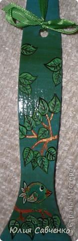 Привет и доброго дня всем кто заглянул ко мне!Продолжение моих лопаток,краска гуашь и акрилл ,покрытие лаком для дерева. Атласные ленточки. фото 3
