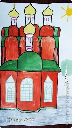 """Параллельно с конкурсом,посвященному  Пасхе, проходит конкурс к юбилею нашего города и церквям """"Скоропослушница"""" и Александра Невского.Сравнить с оригиналом можно в блоге. Представляем вашему вниманию рисунки моих ребятишек. Они не только умеют делать красивые поделки, но и замечательно рисуют. Рисунок Сидоренко Ирины. Заняла 3 место по городу. фото 9"""
