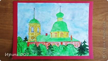 """Параллельно с конкурсом,посвященному  Пасхе, проходит конкурс к юбилею нашего города и церквям """"Скоропослушница"""" и Александра Невского.Сравнить с оригиналом можно в блоге. Представляем вашему вниманию рисунки моих ребятишек. Они не только умеют делать красивые поделки, но и замечательно рисуют. Рисунок Сидоренко Ирины. Заняла 3 место по городу. фото 3"""
