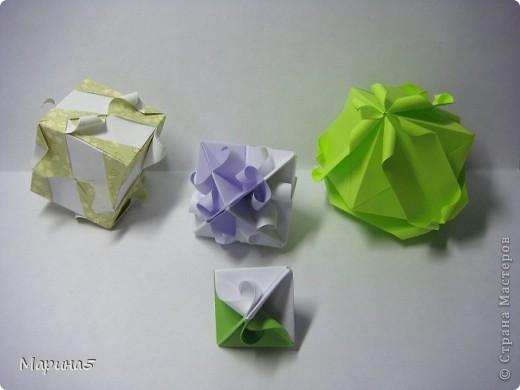 Ну и опять продолжение книги Unit Origami Fantasy. Одна из моих любимых кусудам, собирается без клея. Стр.145-146 фото 5