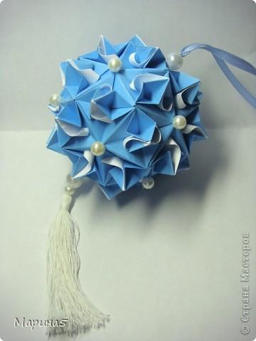 Ну и опять продолжение книги Unit Origami Fantasy. Одна из моих любимых кусудам, собирается без клея. Стр.145-146 фото 3