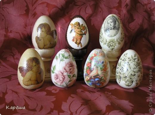 Здравствуйте, дорогие Мастерицы!!! Наконец-то немного доделались мои пасхальные яйца, конечно, ножки будут у всех яиц, просто сейчас времени не хватает их доделать.  фото 1