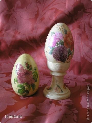 Здравствуйте, дорогие Мастерицы!!! Наконец-то немного доделались мои пасхальные яйца, конечно, ножки будут у всех яиц, просто сейчас времени не хватает их доделать.  фото 4