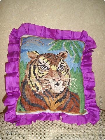 Все свои вышивки я дарю. Тигр был подарен брату на день родженье. фото 1