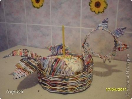 Мой Пасхальный петушок, сплетен в подарок друзьям. фото 1