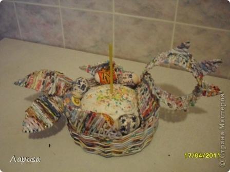 Мой Пасхальный петушок, сплетен в подарок друзьям. фото 2