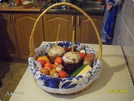 Мама давно хотела корзиночку, чтоб на Пасху куличи святить фото 1