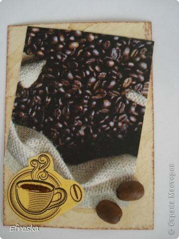 """Дорогие мастерицы, как и обещала, выставляю свою новую серию АТС """"Любителям кофе посвящается..."""" Очень люблю этот напиток, причем запах кофе люблю больше, чем вкус. Может поэтому мои АТС с ароматом кофе... фото 2"""