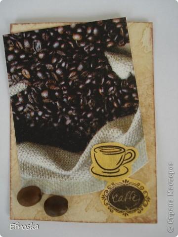"""Дорогие мастерицы, как и обещала, выставляю свою новую серию АТС """"Любителям кофе посвящается..."""" Очень люблю этот напиток, причем запах кофе люблю больше, чем вкус. Может поэтому мои АТС с ароматом кофе... фото 6"""