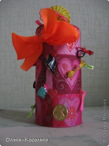 Вот такая развивающая баночка для пальчиков получилось благодаря материалу Валентины http://stranamasterov.ru/node/166094?tid=451%2C903. За что ей огромное спасибо! фото 1