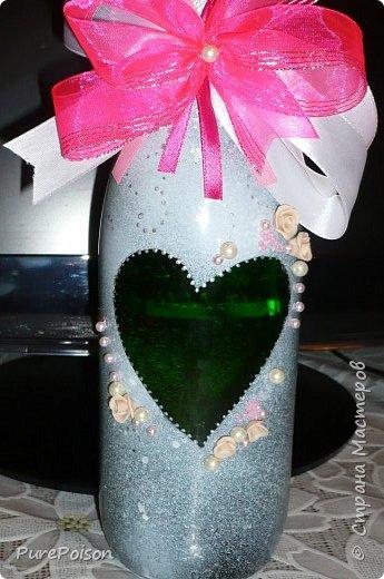 Задекорировала бутылка мамуле на день рождения. Имениннице понравилось! фото 3
