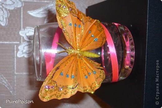 Эти бокальчики я делала в подарок год назад. Еще были розовые и желтые, но их сфотографировать забыла... фото 3