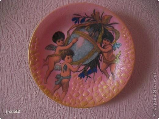 Пасхальная тарелочка на скорую руку фото 1