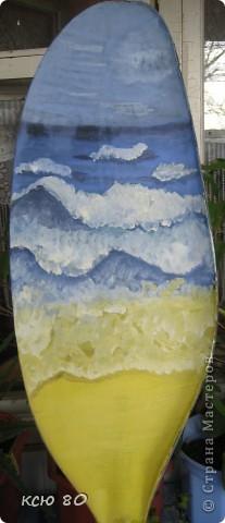 рисунок  на веслах фото 3