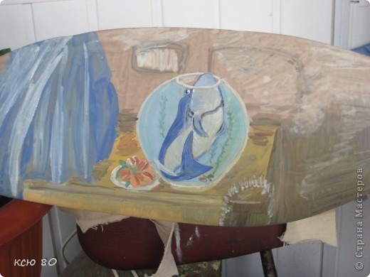рисунок  на веслах фото 4