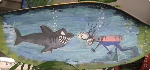 рисунок  на веслах фото 5