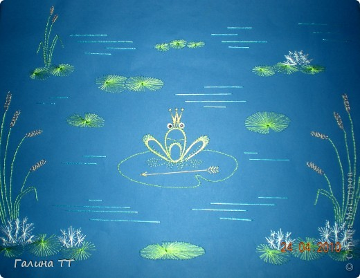 Такую царевну-лягушку Вика Дудинская вышила во время каникул. фото 1