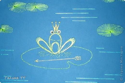 Такую царевну-лягушку Вика Дудинская вышила во время каникул. фото 2