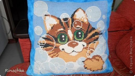 подушка котик фото 1