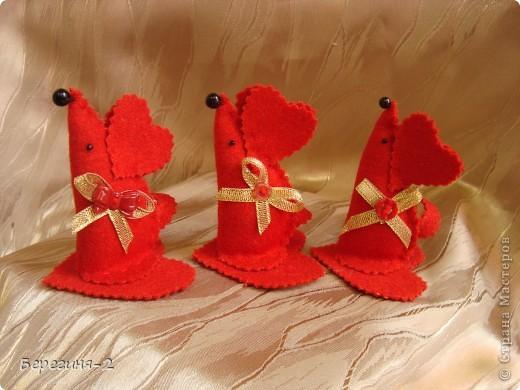 Мышки-валентинки (игольницы) фото 1