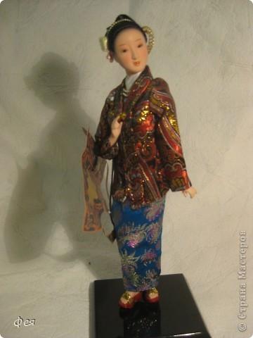 Увидела недавно на сайте кукол из холодного фарфора и решила показать свою небольшую  коллекцию кукол из разных матерьялов , купленных мною в разных странах   , может кому пригодится в качестве идей к творчеству. Эти красотки слеплены по - моему из холодного фарфора , в Доминиканской республике фото 8