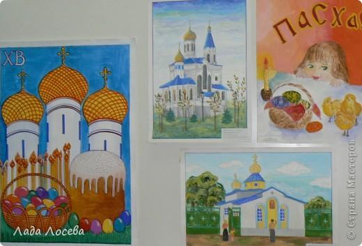 В нашем городе прошло открытие пасхальной выставки. Были представлены рисунки и поделки маленьких и взрослых мастеров. Разнообразие техник и материалов, красочность работ восхищает. фото 28