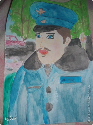 вот такой рисунок нарисовал Артуша в школу