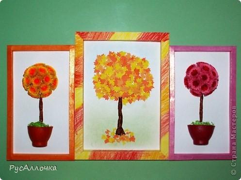 Вот такие деревца сделали мои дочки с небольшой моей помощью фото 1