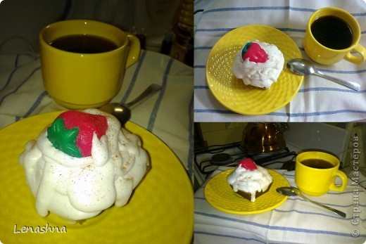 мыльная пироженка. заказали в подарок на день рождения  фото 1