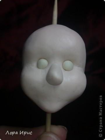 Хочу рассказать как сделать такую куклу за один вечер. В работе использовалась пластика Фимо, старенький плюшевый мишка, акриловые краски. фото 8