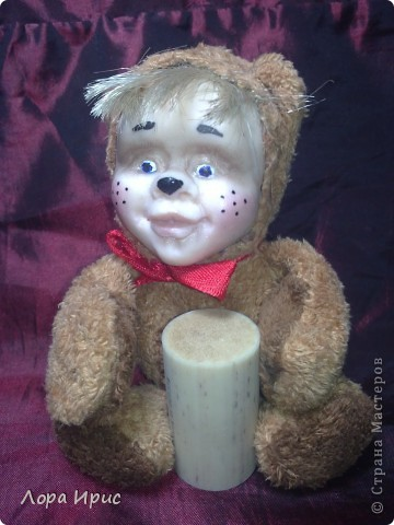 Хочу рассказать как сделать такую куклу за один вечер. В работе использовалась пластика Фимо, старенький плюшевый мишка, акриловые краски. фото 20