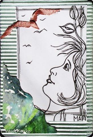 """ЦЕЙТНОТ... Время, где взять время??? Значит время... Значит это -  судьба - берем мою серию рисунков """"Женщина, линия, время"""" http://stranamasterov.ru/node/81409  и http://stranamasterov.ru/node/82213  - и сотворяем АТС! Люда и Юля - я вам задолжала, выбирайте. Следующая серия пока в дааалеком проекте, к сожалению... фото 4"""
