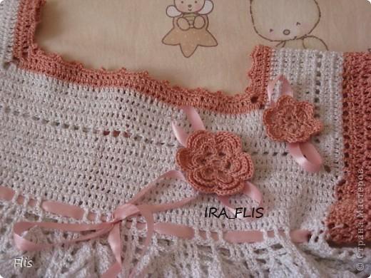 Платье-туника на девочку 1-1,5 лет. Вязала из Тулипа, нитки сложные в вязании, но очень понравились в носке и приятные к телу. фото 5