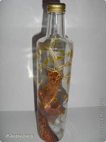 Вот такие кошечки получились на бутылочке для масла) фото 3
