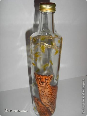 Вот такие кошечки получились на бутылочке для масла) фото 4