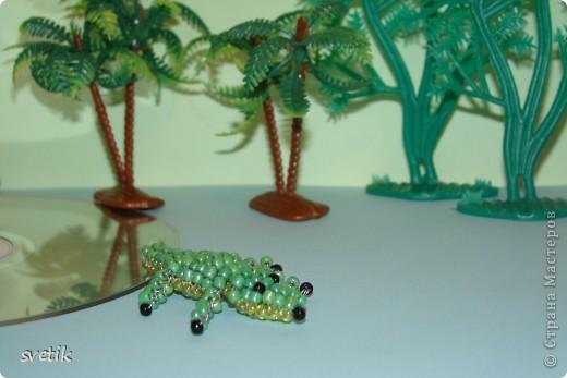 крокодильчик + схема Бисер