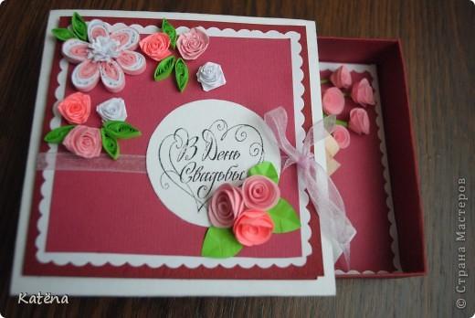 Вот такую коробочку я сделала друзьям на свадьбу! фото 2