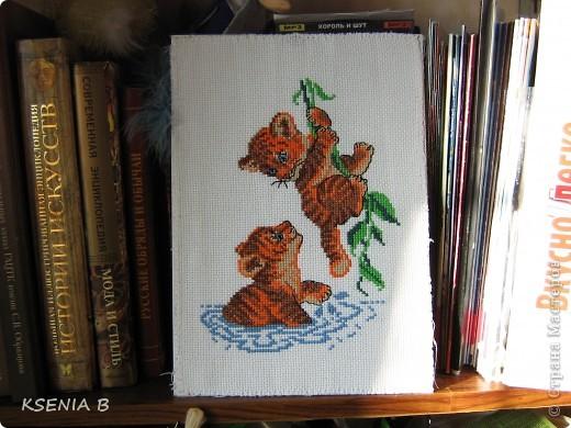 А за околицей весна, работа выполнена по схеме из журнала Вышиваю крестиком, автор схемы Мария Диаз. фото 3
