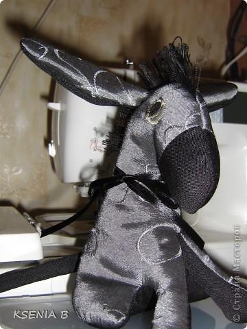 Текстильная игрушка. Ослик. фото 1