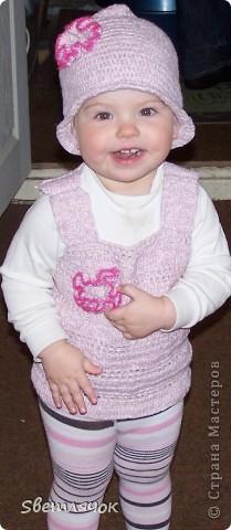 шапочка и жилетка для дочурки