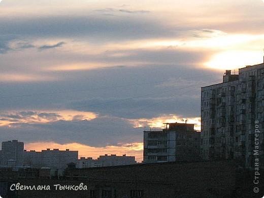 """Насмотревшись на сайте фото с видами неба,я вдохновилась и решила показать вам """"""""моё""""""""личное небо-тем более никуда ходить для этого не нужно было.Это вид из окна.Ещё видно море,но сейчас идёт стройка к саммиту А.Т.Р. поэтому пока не показываю.Итак-Владивосток,бухта Тихая-добро пожаловать! фото 7"""