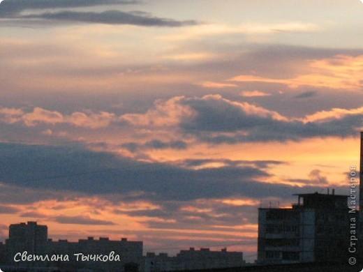 """Насмотревшись на сайте фото с видами неба,я вдохновилась и решила показать вам """"""""моё""""""""личное небо-тем более никуда ходить для этого не нужно было.Это вид из окна.Ещё видно море,но сейчас идёт стройка к саммиту А.Т.Р. поэтому пока не показываю.Итак-Владивосток,бухта Тихая-добро пожаловать! фото 9"""