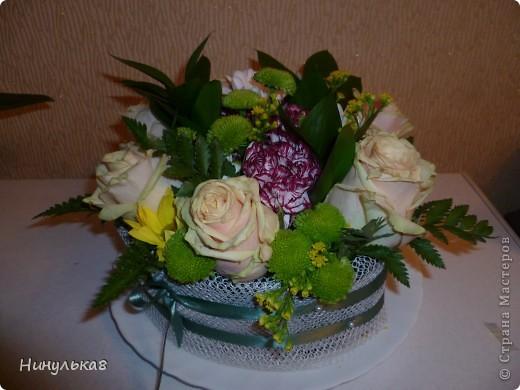 Цветы,зелень,флористический кирпич