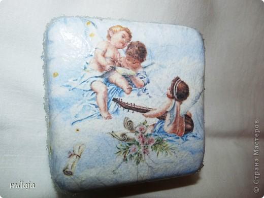 Шкатулочка, сделанная из железной коробочки. фото 1
