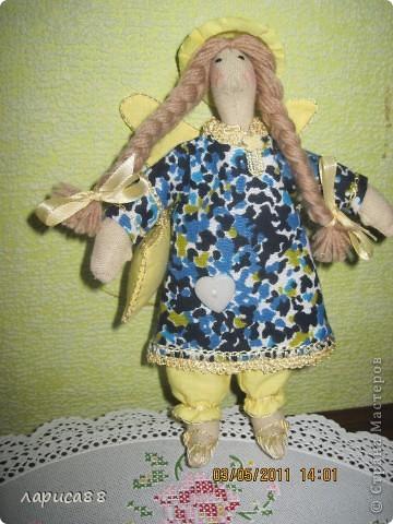 Нарядные, в пижамках цвета ночного неба, тильды-ангелочки Сон и Соня. фото 2