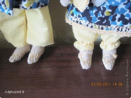 Нарядные, в пижамках цвета ночного неба, тильды-ангелочки Сон и Соня. фото 5