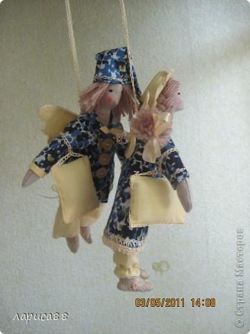 Нарядные, в пижамках цвета ночного неба, тильды-ангелочки Сон и Соня. фото 8