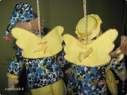 Нарядные, в пижамках цвета ночного неба, тильды-ангелочки Сон и Соня. фото 10