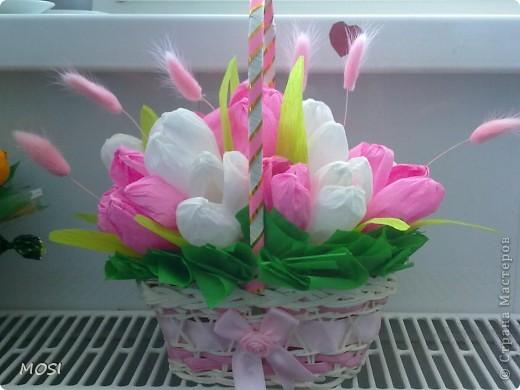 корзина цветов.... фото 1