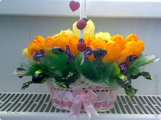 корзина цветов.... фото 2